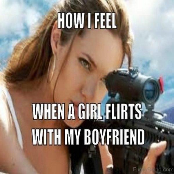 How I Feel When A Girl Flirts
