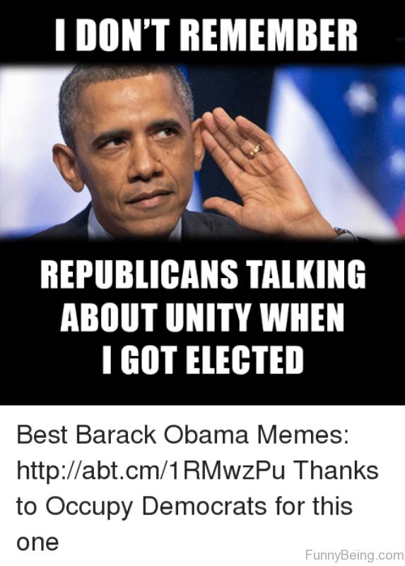 I Don't Remember Republicans Talking