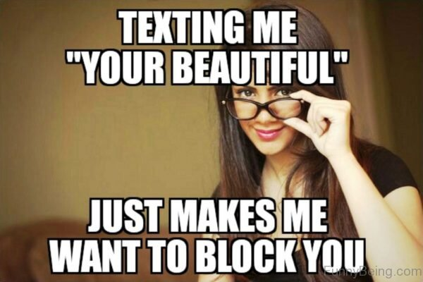 Texting Me Your Beautiful