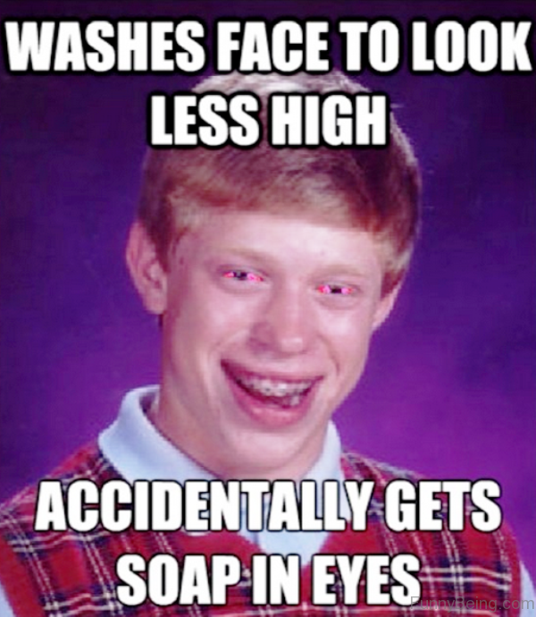 Washes Face To Look Less High