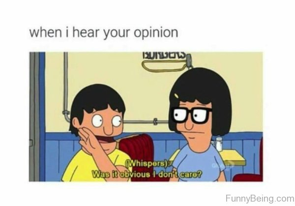 When I Hear Your Opinion
