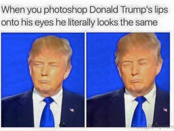 When You Photoshop Donald Trumps Lips