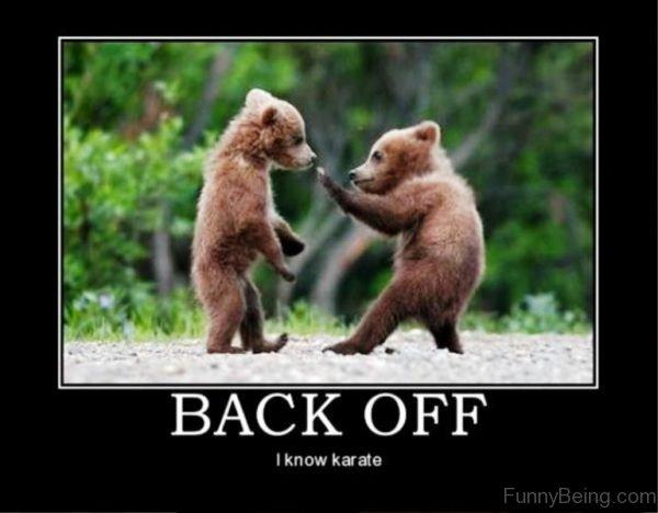 Back Off I Know Karate
