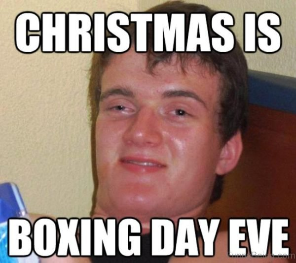 Christmas Is Boxing Day Eve