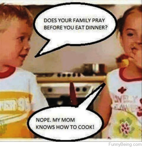 Does Your Family Pray Before You Eat Dinner