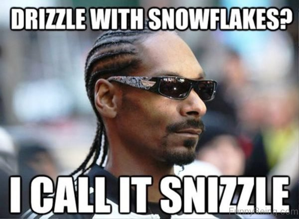 Drizzle With Snowflakes