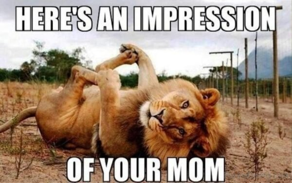 Heres An Impression Of Your Mom