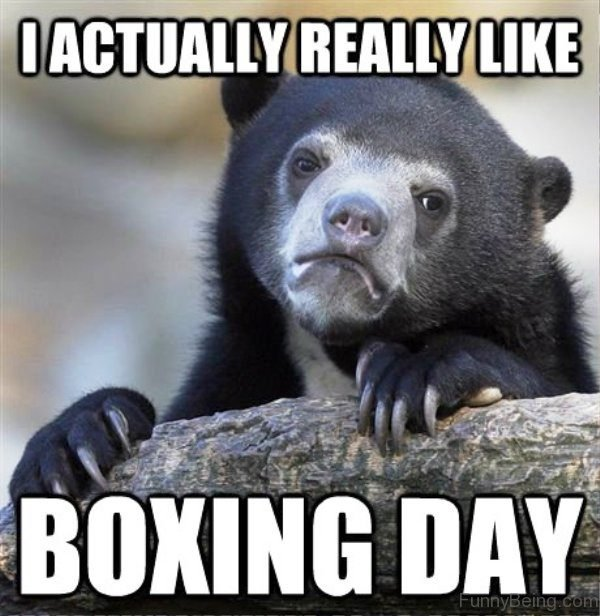 I Actually Really Like Boxing Day