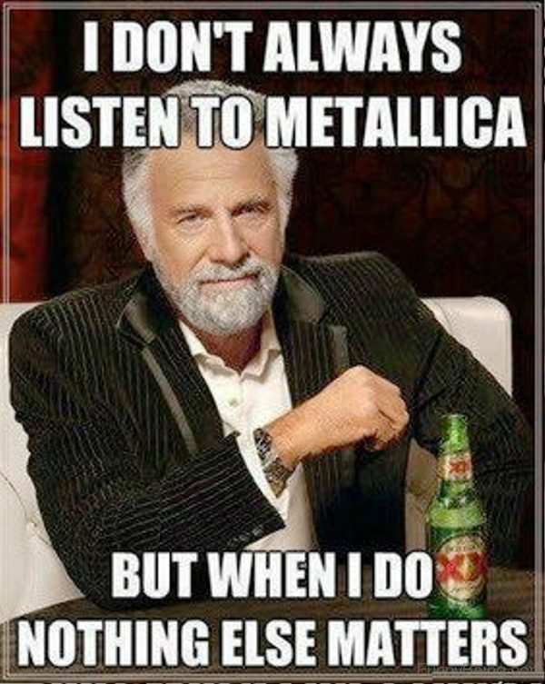 I Dont Always Listen To Metallica