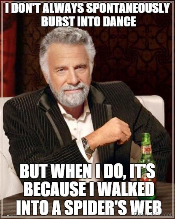 I Dont Always Spontaneously Burst Into Dance