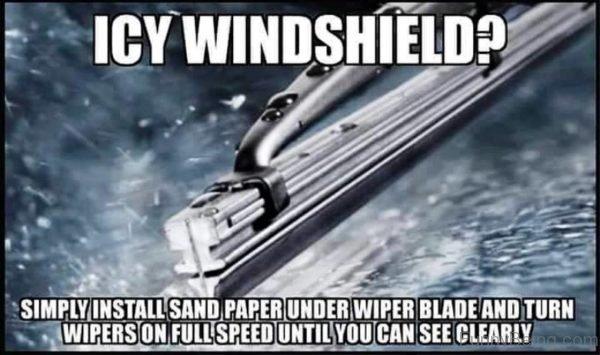 Icy Windshield