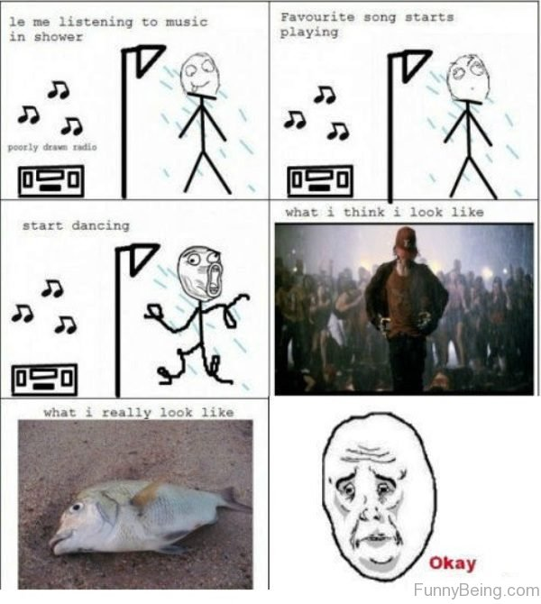 Le Me Listening To Music In Shower