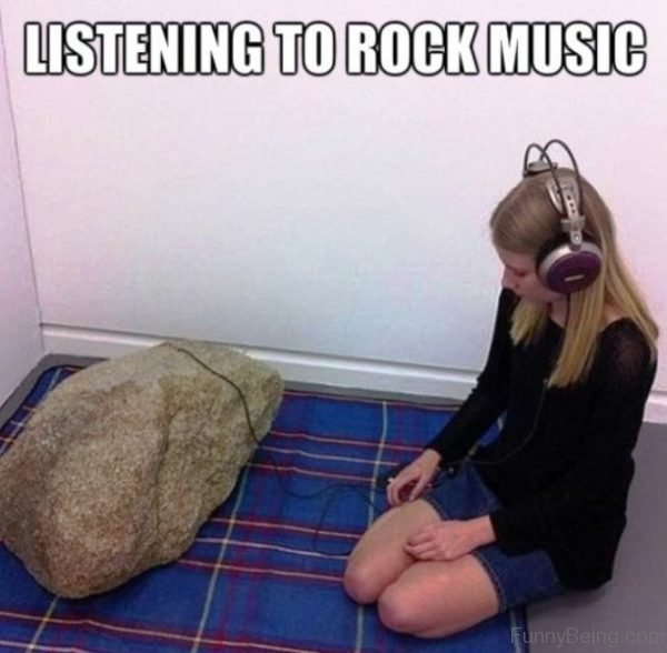 Listening To Rock Music