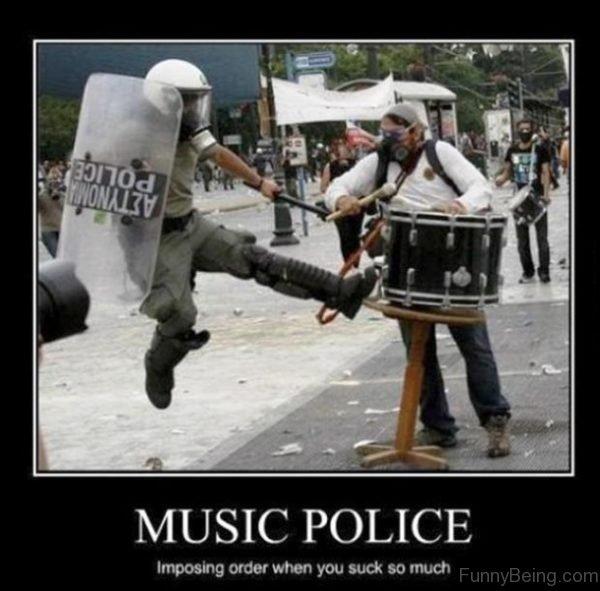 Music Police Imposing Order