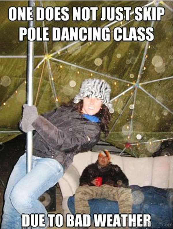 One Does Not Just Skip Pole Dancing