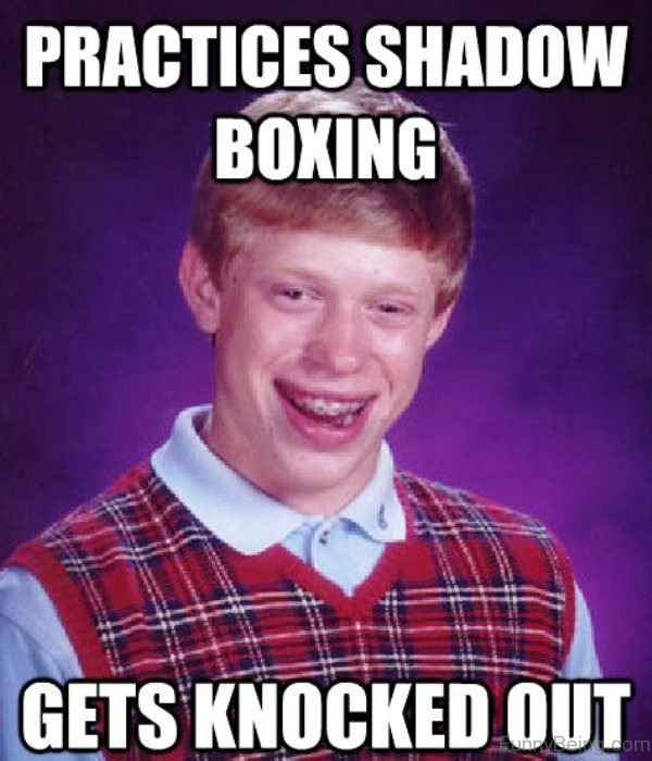 Practices Shadow Boxing