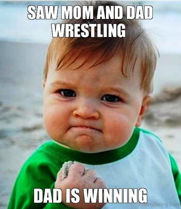 Saw Mom And Dad Wrestling