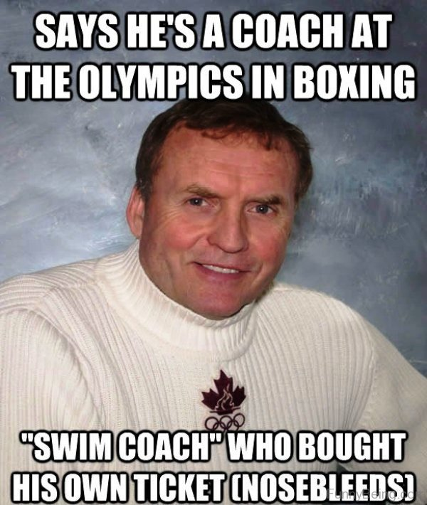 Says He A Coach At The Olympics