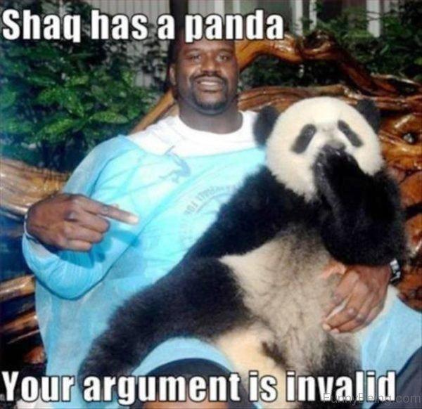Shaq Has A Panda