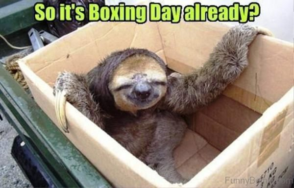 So Its Boxing Day Already