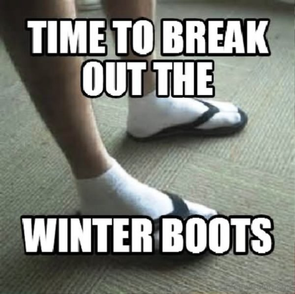 Time To Break Out The Winter Boots