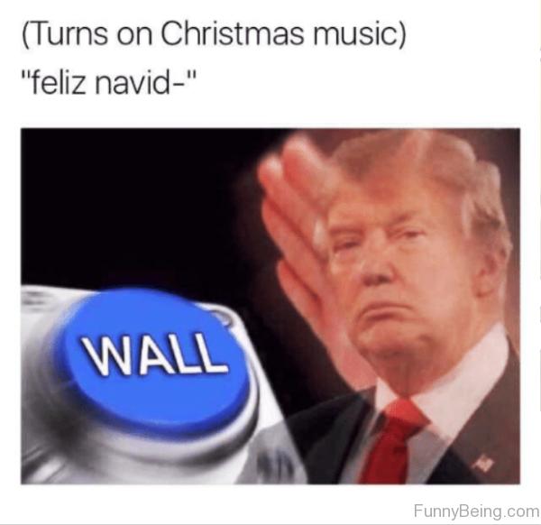 Turns On Christmas Music