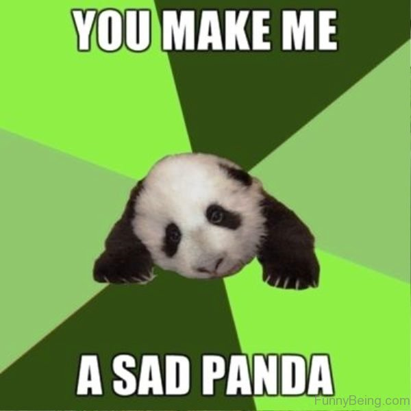 You Make Me A Sad Panda