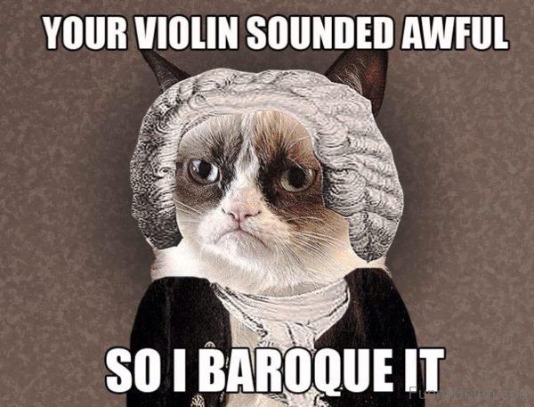 Your Violin Sounded Awkul