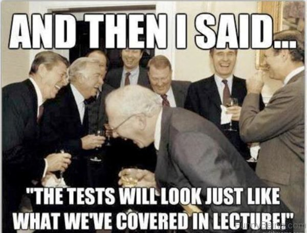 And Then I Said The Tests Will Look