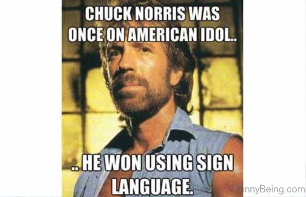 Chuck Norris Was Once On American