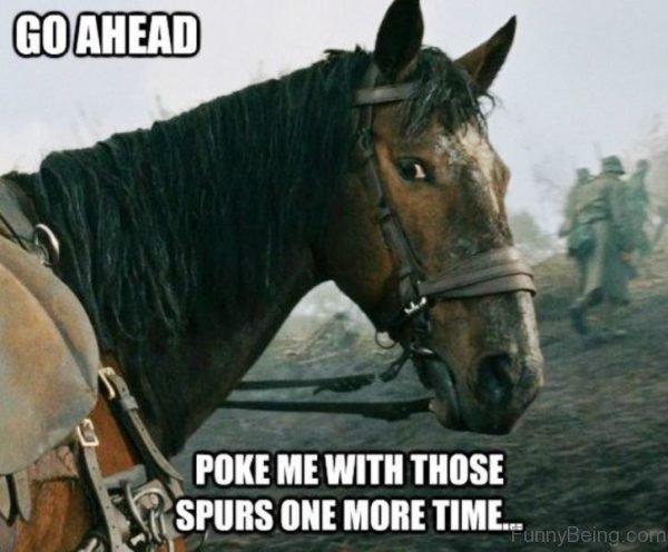 Go Ahead Poke Me With Those Spurs