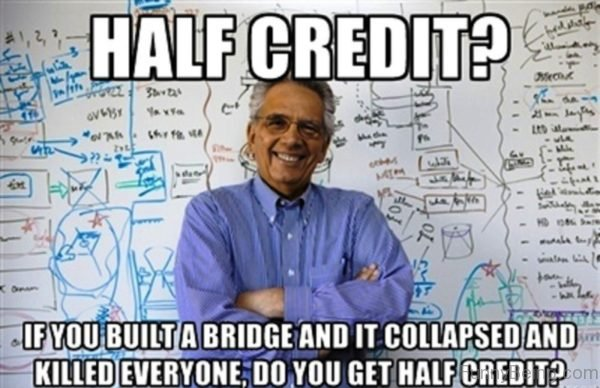Half Credit
