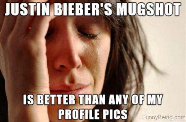 Justin Biebers Mugshot