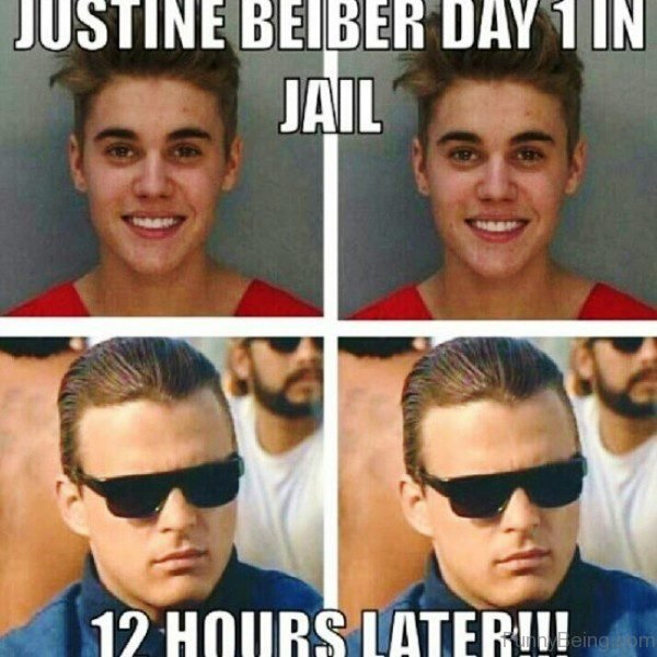 Justine Bieber Day 1 In Jail