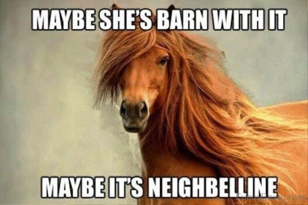 Maybe She Barn With It