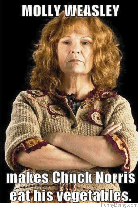 Molly Weasley Makes Chuck Norris