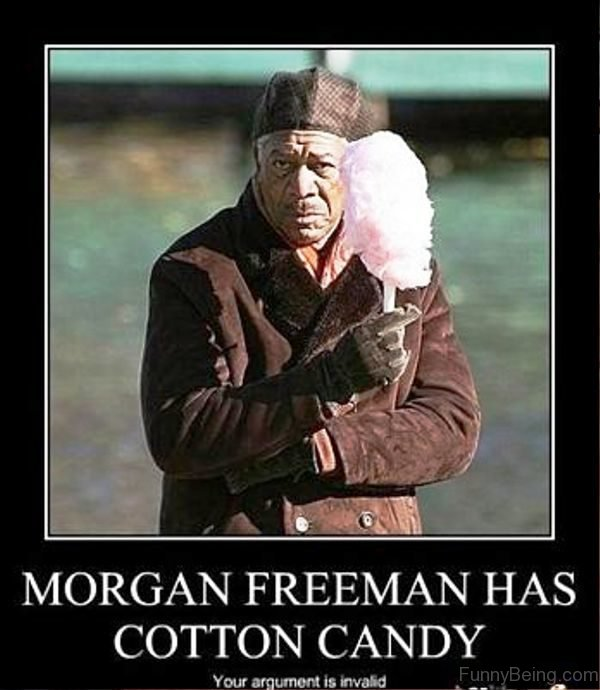 Morgan Freeman Has Cotton Candy