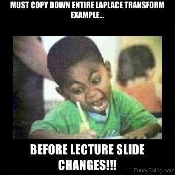 Must Copy Down Entire Laplace