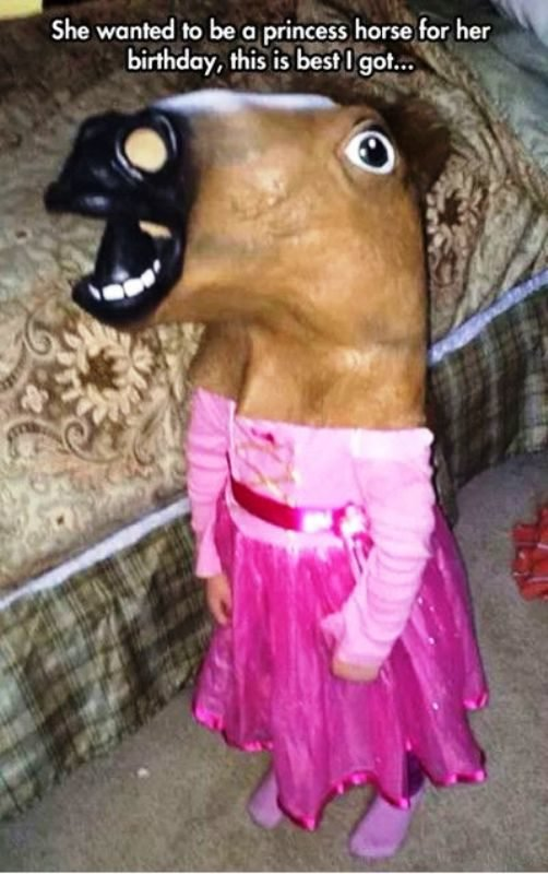 She Wanted To Be A Princess Horse