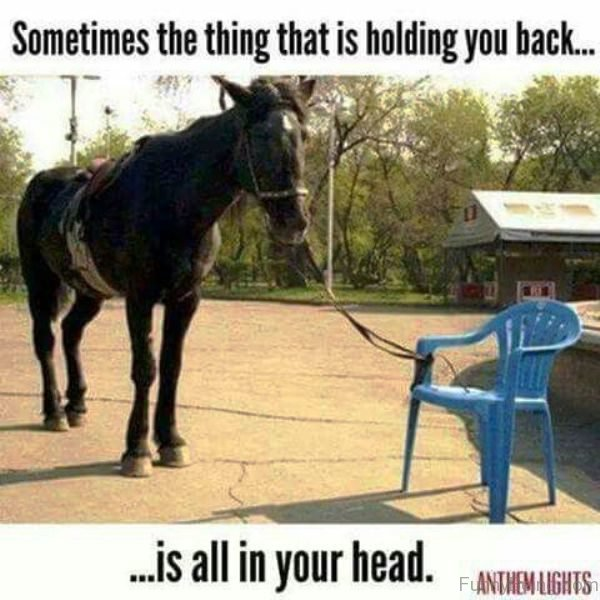 Sometimes The Thing That Is Holding You Back
