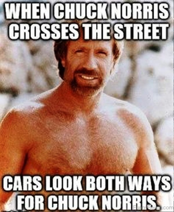 When Chuck Norris Crosses The Street