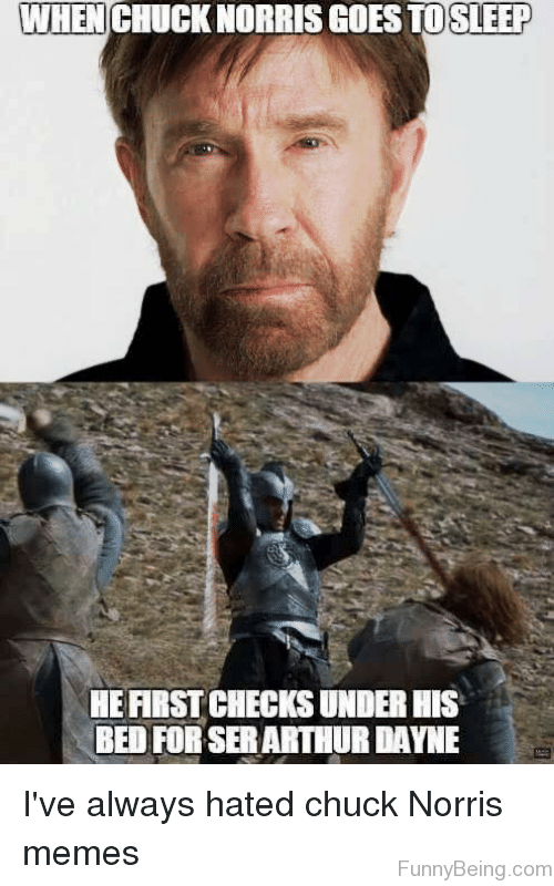 When Chuck Norris Goes To Sleep