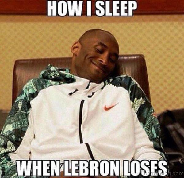 How I Sleep When Lebron Loses