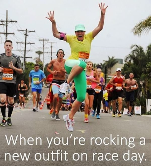 When You re Rocking A New Outfit 600x660 - View funny running photos