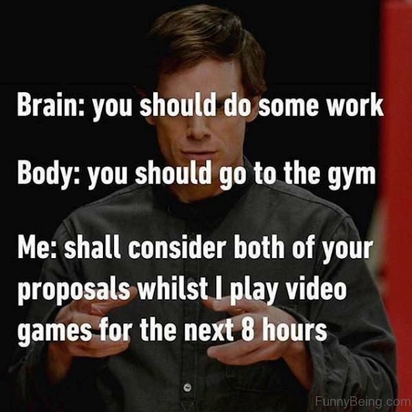 Brain Vs Body Vs Me
