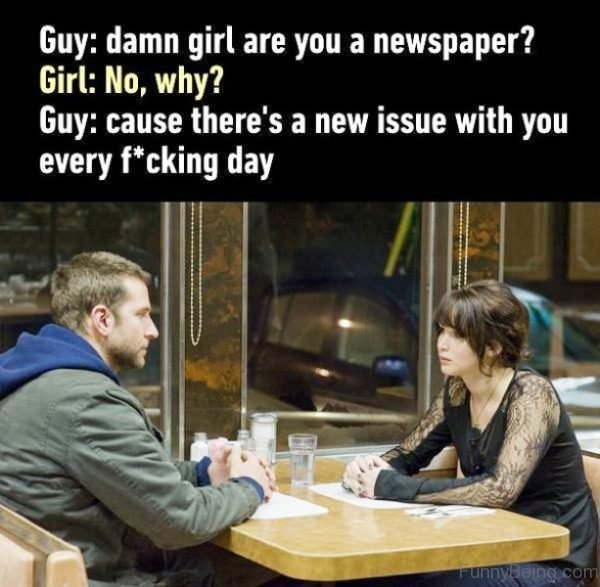 Damn Girl Are You A Newspaper