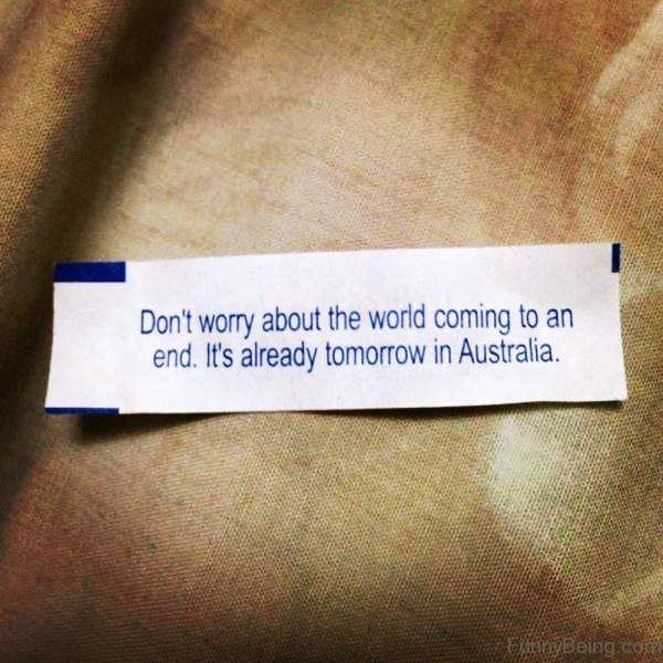 Dont Worry About The World Coming