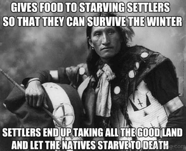 Gives Food To Starving Settlers