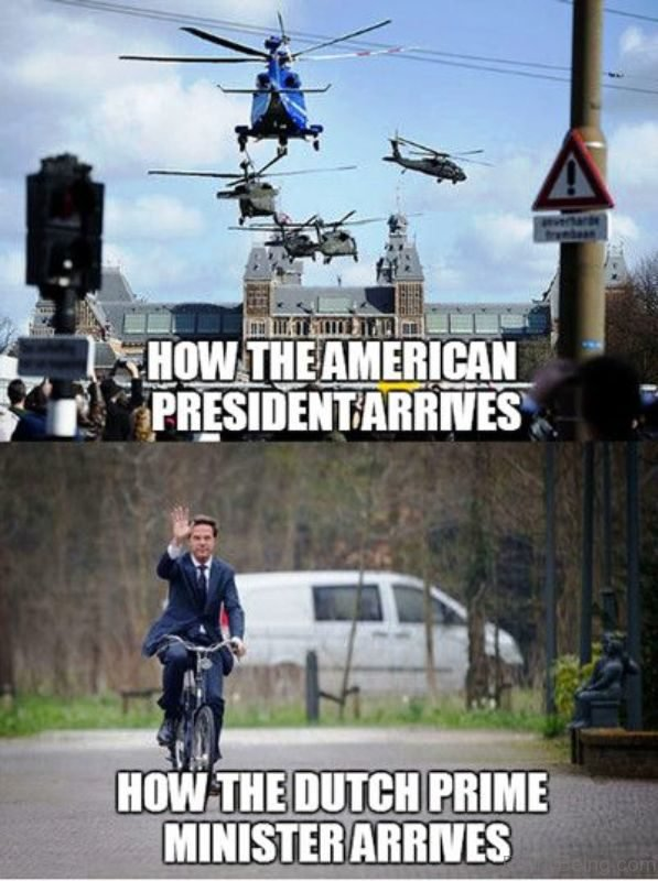 How The American President Arrives
