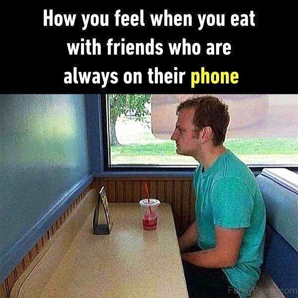 How You Feel When You Eat With Friends